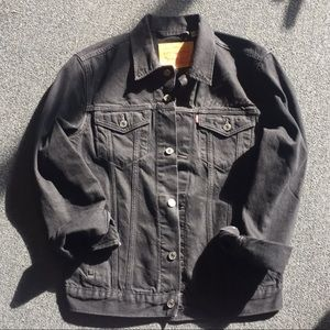 Custom Levi's XS Blondie Black Trucker Jacket